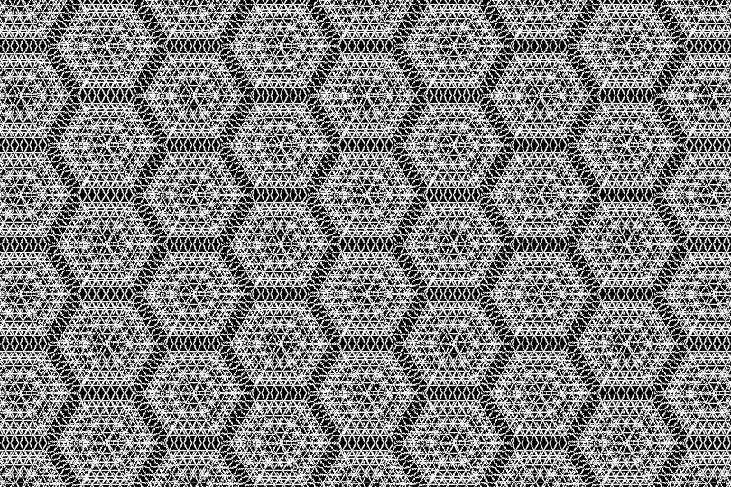 白黒パターン4