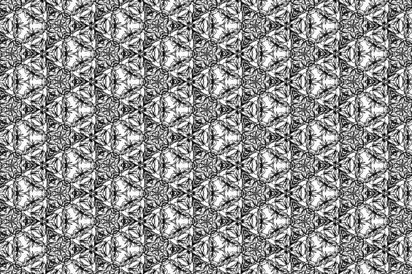 白黒パターン6