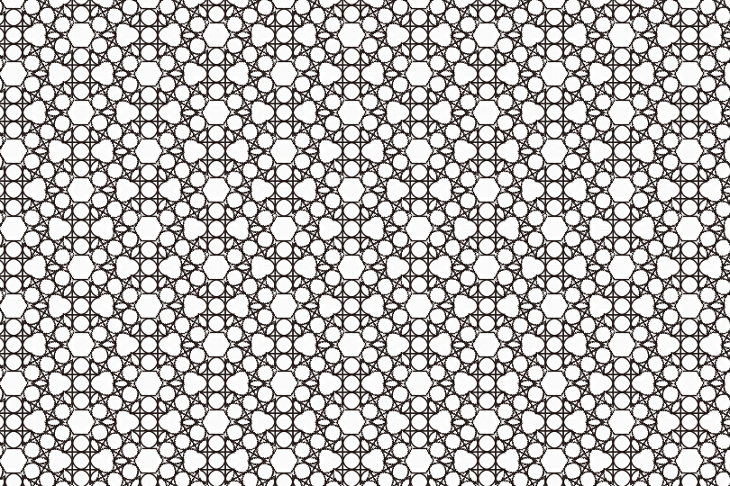 白黒パターン8