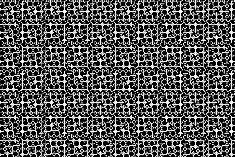 白黒パターン11